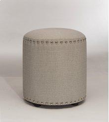 Laura Backless Vanity Stool - Gray Fabric