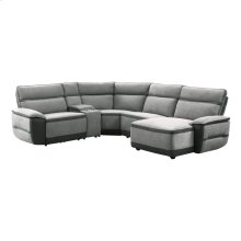 5-Piece Modular Power Reclining Sectional with Power Headrest and Right Chaise