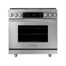 "36"" Heritage Dual Fuel Pro Range, Silver Stainless Steel, Liquid Propane Product Image"