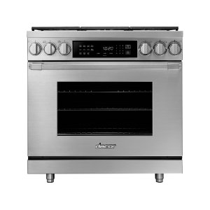 "Dacor36"" Heritage Dual Fuel Pro Range, Silver Stainless Steel, Liquid Propane/High Altitude"