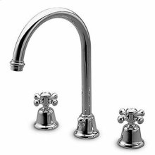3 hole basin mixer, swivel spout with aerator, 1 1/4'' pop-up waste, flexible tails.
