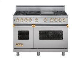 "48"" Custom Sealed Burner Dual Fuel Range, Propane Gas, Brass Accent"