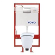 Maris® Wall-Hung Toilet & DUOFIT™ In-Wall Tank System, 1.6 GPF & 0.9 GPF, Elongated Bowl - Cotton