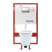 Maris® Wall-Hung Toilet & DUOFIT™ In-Wall Tank System, 1.6 GPF & 0.9 GPF, Elongated Bowl - Cotton