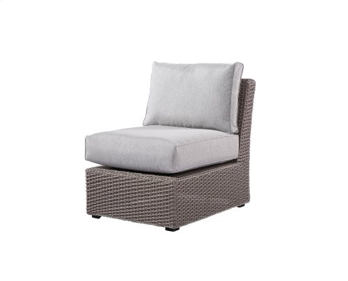 Emerald Home Reims Armless Chair Spuncrylic Grey Wicker Ou1207c-15-1-09