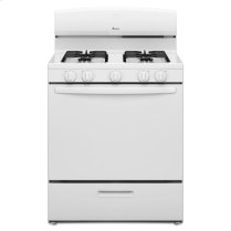 30-inch Amana® Gas Range with Versatile Cooktop - white