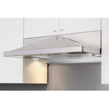 """30"""" Pyramid Under-Cabinet Hood with Pyramid Shaped Body - Stainless Steel"""