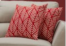 "PILLOW - 18""X 18"" / RED GEOMETRIC DESIGN / 2PCS Product Image"