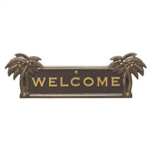 Palm Tree Welcome Plaque - Bronze/Gold