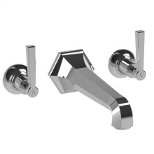 Lever wall-mounted 3-hole bath filler, to suit R1-4036 rough