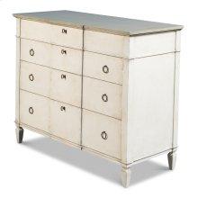 Azzalene Dresser,Stucco Wht, Grey Quartz