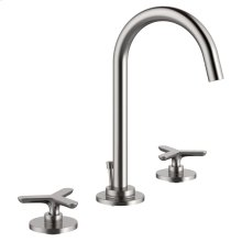 Percy Widespread Faucet with Tri-Spoke Handles - Polished Chrome