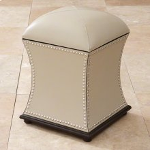 Poof Ottoman w/Nickel Tacks-Beige