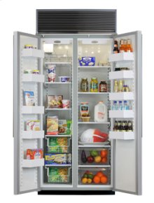 "36"" Side-by-Side Refrigerator/Freezer (Marvel) - 36"" Marvel Side-by-Side Refrigerator/Freezer"