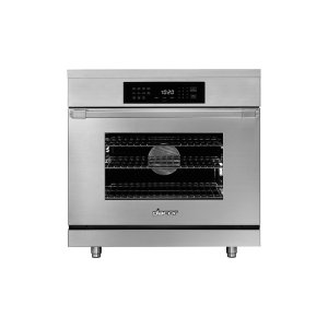 "Dacor36"" Heritage Induction Pro Range, Silver Stainless Steel"