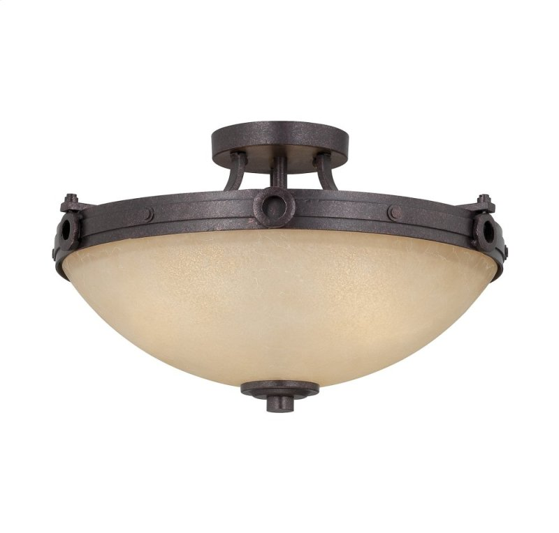 Elba 3 light semi flush
