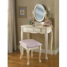 Off-White Vanity, Mirror & Bench