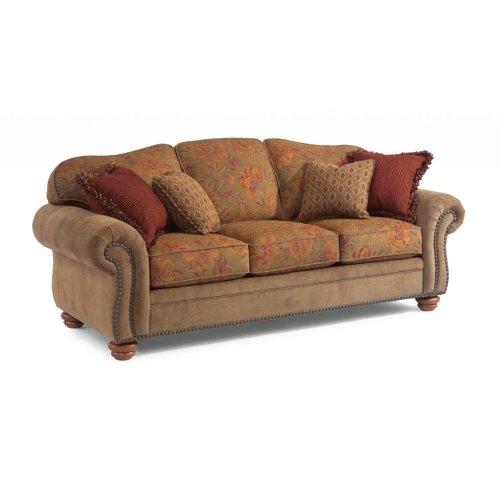 Bexley Two-Tone Fabric Sofa with Nailhead Trim