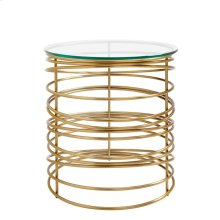 Oasis-Zuma Round Lamp Table in Binnacle
