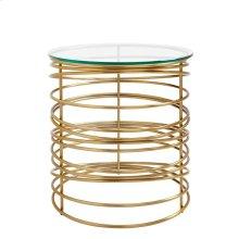 Oasis-Zuma Round Lamp Table in Binnacle