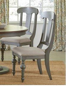 Slat Dining Chair (2/Ctn) - Putty/Oak Finish