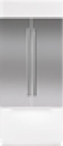 """Built-In 36"""" French Door Stainless Steel Flush Inset Door Panel with Pro Handle"""