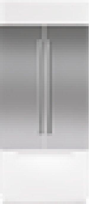 """Built-In 42"""" French Door Stainless Steel Flush Inset Door Panel with Pro Handle"""