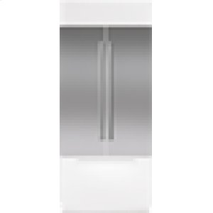 "Built-In 42"" French Door Stainless Steel Flush Inset Door Panel with Pro Handle"