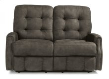Devon Fabric Power Reclining Loveseat with Nailhead Trim