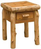 One Drawer Nightstand Natural Cedar Product Image
