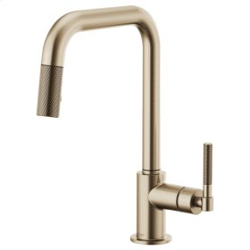 Pull-down Faucet With Square Spout and Knurled Handle
