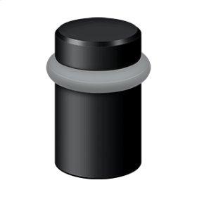"Round Universal Floor Bumper 2"", Solid Brass - Paint Black"