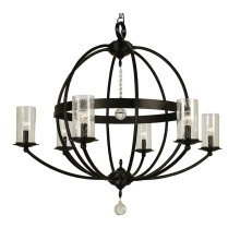6-Light Compass Foyer Chandelier
