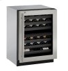 "Modular 3000 Series 24"" Wine Captain® Model With Stainless Frame (lock) Finish and Right-hand Hinged Door Swing (115 Volts / 60 Hz)"