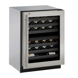 "U-Line Modular 3000 Series 24"" Wine Captain(r) Model With Stainless Frame (Lock) Finish And Right-Hand Hinged Door Swing (115 Volts / 60 Hz)"
