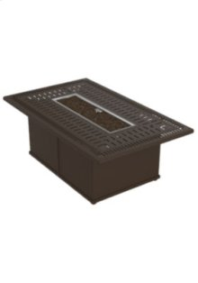 "Spectrum 53"" x 32"" Rectangular Fire Pit, Manual Ignition"