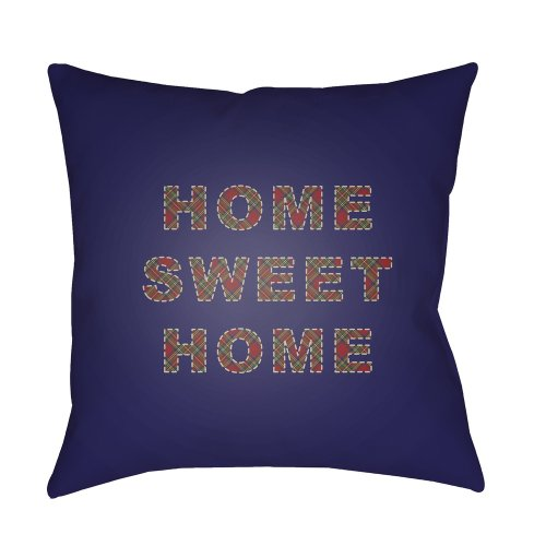 "HOME SWEET HOME PLAID-017 20"" x 20"""