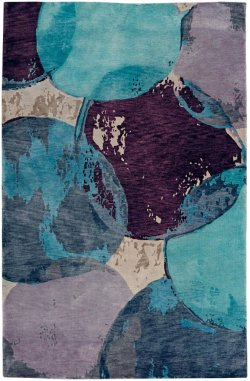 Phantom-Mirage Blue Haze Hand Knotted Rugs