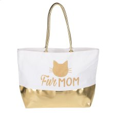 "Kitty ""Fur Mom"" Mia Canvas Tote."