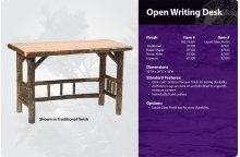 Hickory Open Writing Desk