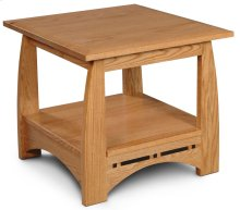 """Aspen End Table with Inlay, 24""""x26"""""""