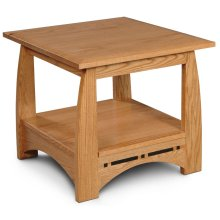 "Aspen End Table with Inlay, 24""x26"""