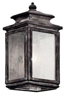 "Wiscombe Park 12.25"" 1 Light Wall Light Weathered Zinc"