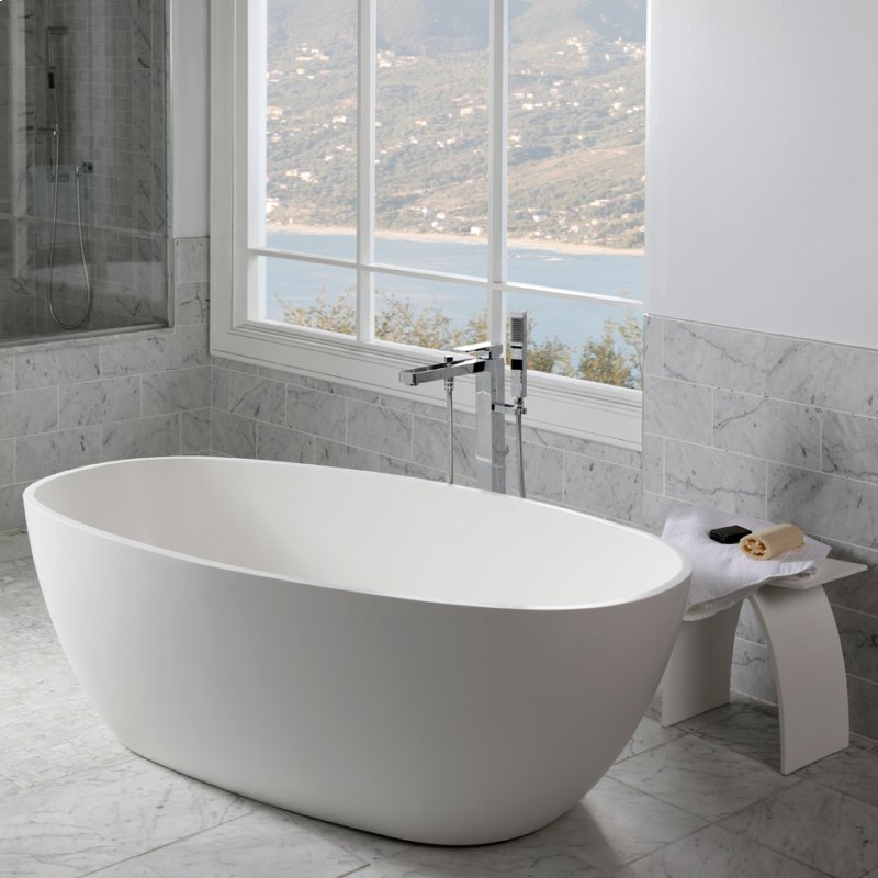 TUB14001G in Gloss White by Lacava in Washington, DC - Free-standing ...