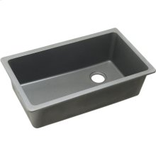 "Elkay Quartz Classic 33"" x 18-3/4"" x 9-1/2"", Single Bowl Undermount Sink, Greystone"