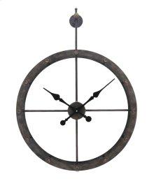 Metal Wall Clock, Black, Window Box Pack