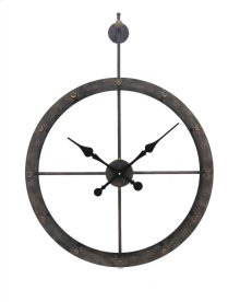 Numberless Hanging Metal Clock, Wb, Wb