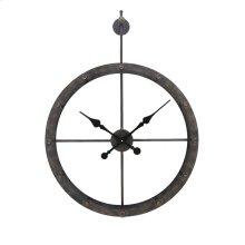 Numberless Hanging Metal Clock, Wb