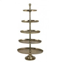 Etagere 5 layers oval 83x41x170 cm FAGERNES antique bronze