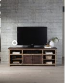 70 Inch Console - Distressed Dark Pine Finish Product Image